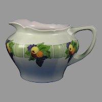 """JP Limoges Fruit Design Cider/Lemonade Pitcher (Signed """"M.E. Murphy""""/c.1910-1930)"""