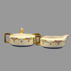 H&Co. Selb Bavaria Art Deco Creamer & Sugar Set (c.1910-1935)