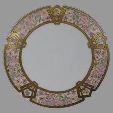Thomas Bavaria Enameled Floral Design Plate (c.1910-1930)