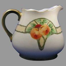 "Thomas Bavaria Apple Design Cider/Lemonade Pitcher (Signed ""M. Harrison""/c.1910-1930)"