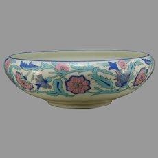 Willets Belleek (American) Enameled Floral Design Bowl (c.1900-1930)