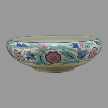 Willets Belleek (American) Enameled Floral Design Bowl (c.1900-1930)