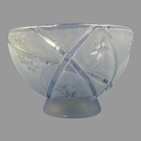 Consolidated Glass Blue Wash Line 700 Bowl (c. 1926-1933)