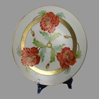 France Studio Chicago Poppy Design Charger/Plate (c.1906-1916)