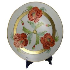 France Studio Chicago Poppy Design Charger/Plate (c.1906-1916)