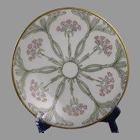 JP Limoges Floral Design Plate (c.1910-1930)