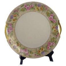 "KPM Germany Floral Design Handled Plate (Signed ""L. Roberts""/Dated 1915)"