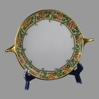 Rosenthal Bavaria Rose Design Handled Serving Plate/Dish (Signed/c.1909-1930) - Keramic Studio Design