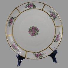 "KPM Germany Floral Design Plate (Signed ""M.T.""/c.1904-1927)"