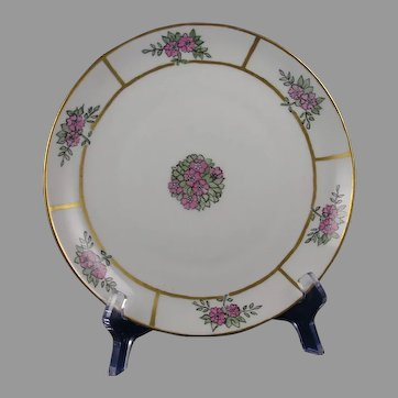"KPM Germany Floral Design Plate (Signed ""M.T.""/c.1904-1927)"