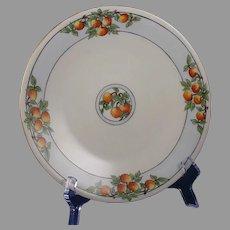 "JP Limoges Citrus/Fruit Design Plate (Signed ""F. Tennant""/c.1910-1930)"