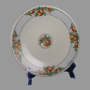 "JP Limoges Citrus/Fruit Design Plate (Signed ""F. Tennant""/c.1910-1930)"