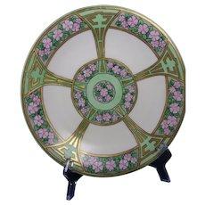 B&Co. Limoges Pink Floral Design Plate (c.1910-1930)
