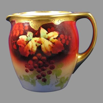 "Julius Brauer Studio Currant Design Pitcher (Signed ""Chevallier""/c.1910-1916)"