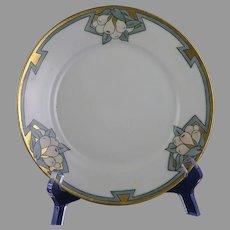 "Porcelain Blank Pear Design Plate (Signed ""LRM""/Dated 1926)"