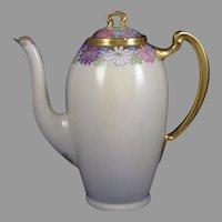 Lenox Belleek (American) Enameled Floral Design Coffee Pot (c.1906-1924)