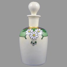 """WG&Co. Limoges Daisy Design Perfume Bottle (Signed """"A. Otto""""/Dated 1916)"""