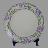 "Thomas Bavaria Rose Design Plate (Signed ""E.L. Holt""/c.1908-1930) - Keramic Studio Design"