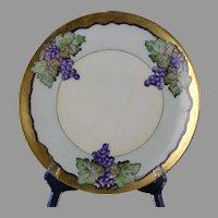 """Thomas Bavaria Grape Design Plate (Signed """"E. Meams""""/c.1908-1930)"""