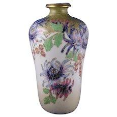 RStK Amphora Austria Enameled Chrysanthemum Design Vase (c.1899-1905)