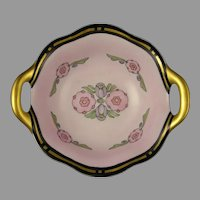 """RS Germany Floral Design Bowl/Dish (Signed """"G. Eby.""""/c.1920-1935)"""
