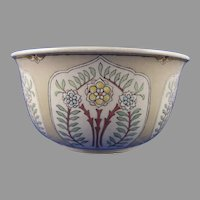 "American Satsuma Enameled Floral Design Bowl (Signed ""M.M.K.""/Dated 1915) - Keramic Studio Design"