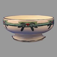 "T&V Limoges Floral Design Bowl (Signed ""L.W.A.""/c.1910-1930) - Keramic Studio Design"
