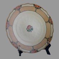 "Bavaria Porcelain Floral Design Charger/Plate (Signed ""Rita Work""/Dated 1915) - Keramic Studio Design"