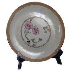 "Buchanan Studio Indianapolis Hutschenreuther Bavaria Floral Design Plate (Signed ""E.E.G.""/c.1910-1940)"
