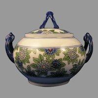 WG&Co. Limoges Enameled Floral Design Sugar Bowl/Trinket Jar (Signed/c.1910-1930)