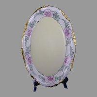 """JP Limoges Floral Design Platter/Tray (Signed """"E.K.S.""""/c.1910-1930)"""