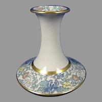 """American Satsuma Enameled Floral Design Vase (Signed """"S. Hoover""""/c.1910-1920)"""