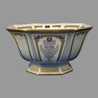 B&Co. Limoges Art Deco Floral Design Centerpiece Bowl (c.1921-1930) - Keramic Studio Design
