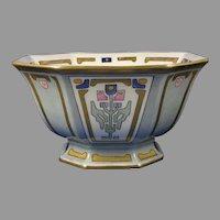 B&Co. Limoges Art Deco Floral Design Centerpiece Bowl (c.1921-1930) - Keramic Studio Design