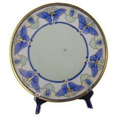 Thomas Bavaria Blue Butterfly Motif Plate (c.1908-1930) - Keramic Studio Design