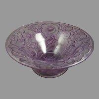 Consolidated Glass Co. Purple Wash Martele Floral Design Bowl (c. 1926-1933)