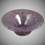 Consolidated Glass Co. Purple Wash Martele Floral Design Bowl (c. 1920s)