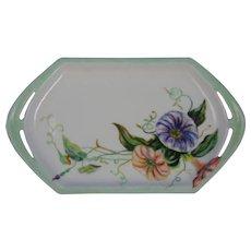 Moritz Zdekauer (MZ) Austria Morning Glories Design Tray/Pin Dish (Signed/Dated 1914)