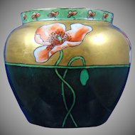 Hutschenreuther Uno Favorite Bavaria Poppy Motif Jardinière/Vase (Signed/c.1910-1930)