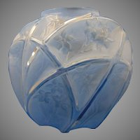 "Consolidated Glass Blue Wash Martele ""Line 700"" Design Vase (c. 1920's)"