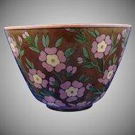 "Lenox Belleek (American) Floral Lustre Design Bowl (Signed ""Maude E. Nutter""/c.1906-1924)"