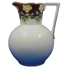Hutschenreuther Favorite Bavaria Yellow Roses Motif Pitcher (c.1910-1940)