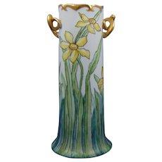 Bavaria Arts & Crafts Daffodil Design Handled Vase (c.1900-1930)