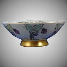 Hutschenreuther Favorite Bavaria Lustre Strawberry Motif Bowl (Signed/Dated 1912) - Keramic Studio Design