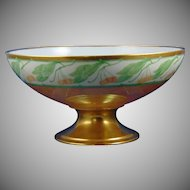 Haviland Limoges Lustre Cherry Design Pedestal Centerpiece Bowl (c.1908-1931) - Keramic Studio Design
