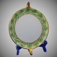 Rosenthal Bavaria Shamrock/Clover Design Handled Serving Plate/Dish (Signed/Dated 1914) - Keramic Studio Design