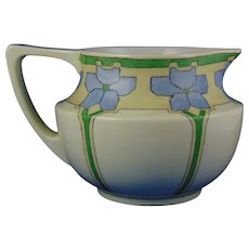 "Jean Pouyat (JP) Limoges Arts & Crafts Floral Design Cider/Lemonade Pitcher (Signed ""E.A.R.""/c.1890-1932)"