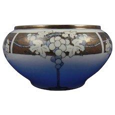 "Porcelain Blank ""In-Process"" Silver Grapes Motif Centerpiece Bowl/Jardiniere (c.1910-1940)"