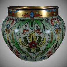 JP Limoges Persian/Ottoman/Islamic Floral Motif Jardinière/Vase (c.1890-1932)