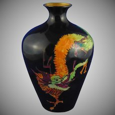 "Moritz Zdekauer (MZ) Austria Arts & Crafts Chinese Dragon Design Vase (Signed ""V.B. Walker""/Dated 1916)"
